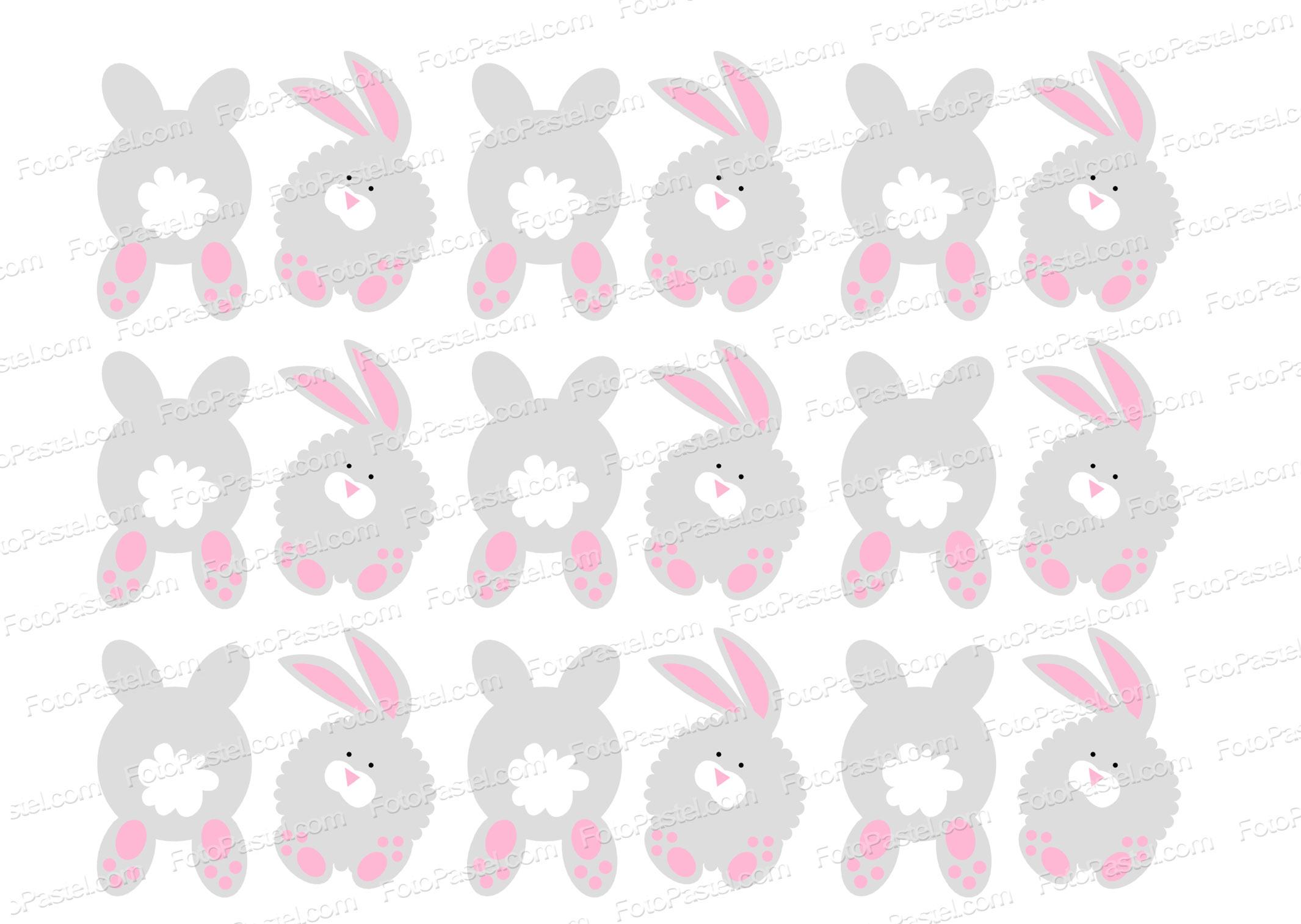 Conejitos de pascua en papel de arroz precortado fpdpp04 for Papel decorado rosa