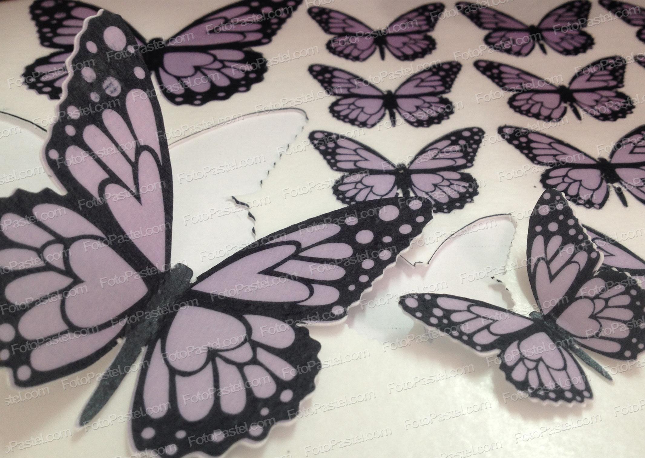 Mariposas en papel de arroz precortado fpdpm11c - Papel de arroz para decorar muebles ...